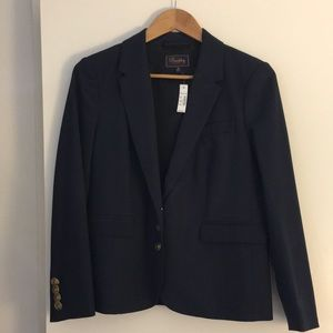 Madewell (Buckley Tailors) Fitted Navy Blazer